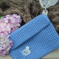 Crocheted Cotton Clutch Bag