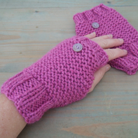 Pink Fingerless Gloves