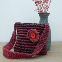 Girl's Stripy Bag with Flower