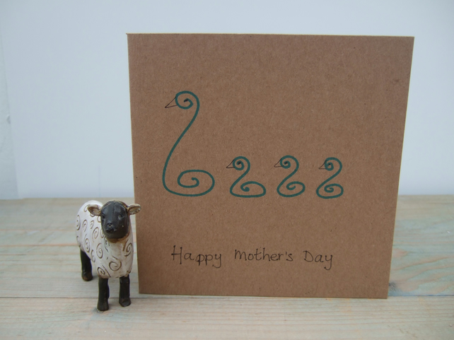 Swans Mother's Day Card