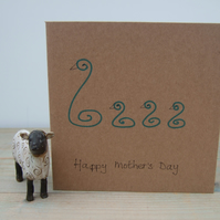 Mother's Day Card - Swan and Cygnets