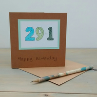 30th Birthday Card, Quirky Card, Teacher Card