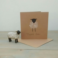 Thank You Card - Thank Ewe Card - Sheep Card