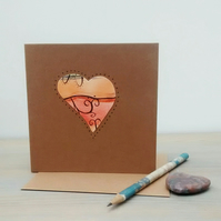 Heart Greetings Card, Anniversary Card