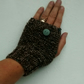 Fingerless Gloves, Brown Tweed