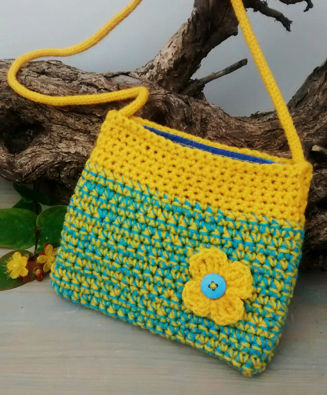 Girl's Bag in Yellow and Turquoise