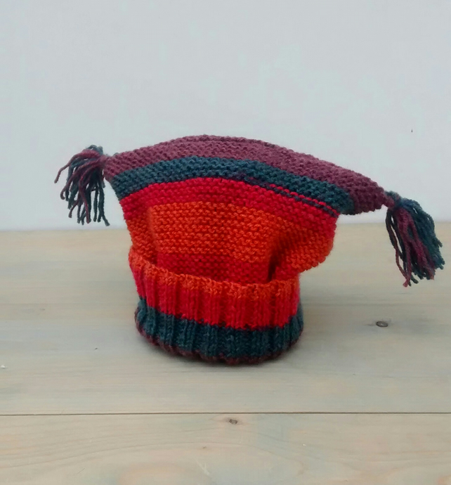 Baby Hat with Tassels - 1 yr - 3 yrs