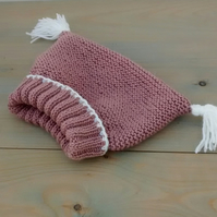 Knitted Baby Girl Hat, age 3 to 6 months