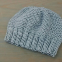 Grey Beanie in Aran