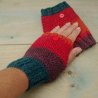 Fingerless Gloves Multicoloured