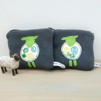 Coin Purse - Appliqued Sheep Design
