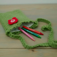 Girls Crochet Bag - Fern Green