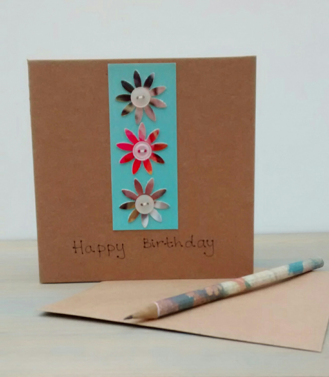 Birthday Card, Flowers, Eco Friendly