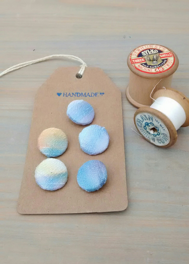 Silk Buttons - Handmade Buttons - Sewing Gifts