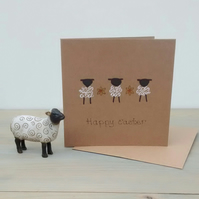 Easter Card - Lambs and Daffodils