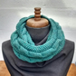 Scarf Cowl Snood in Spruce Green Aran