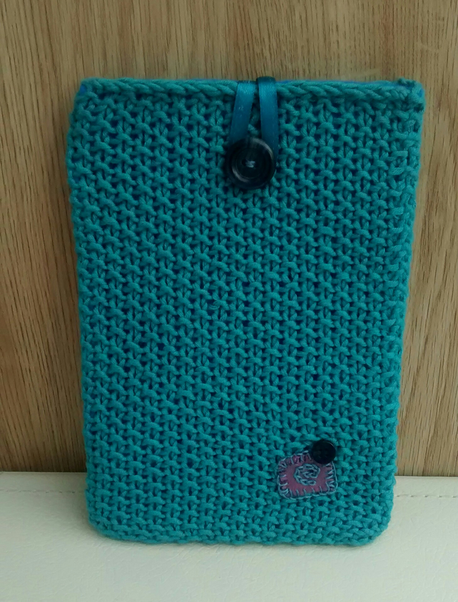 Kindle Cover in Teal Cotton