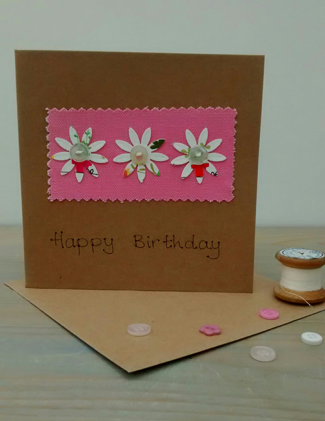Birthday Card, Flowers, Floral Card for Her