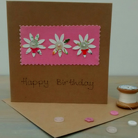 Birthday Card - Flowers