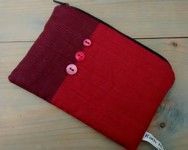 Maroon Zipped Pouch