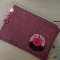 Pink Zipped Pouch - Free UK P&P