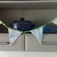 Bunting in Floral and Stripy Fabric