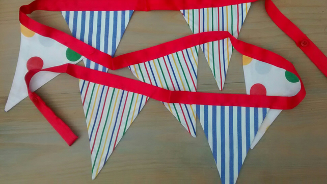 Bunting, Bright Stripy, Home Decor