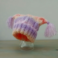 Baby Girl Knitted Hat - age 6 -12 months