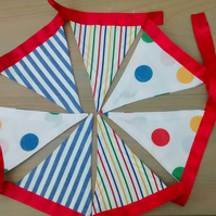Bunting, Bright Stripes and Spots, Home Decor