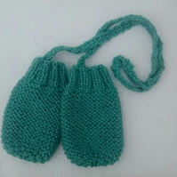 Baby Mittens with String