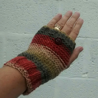 Fingerless Gloves - Autumn Colours