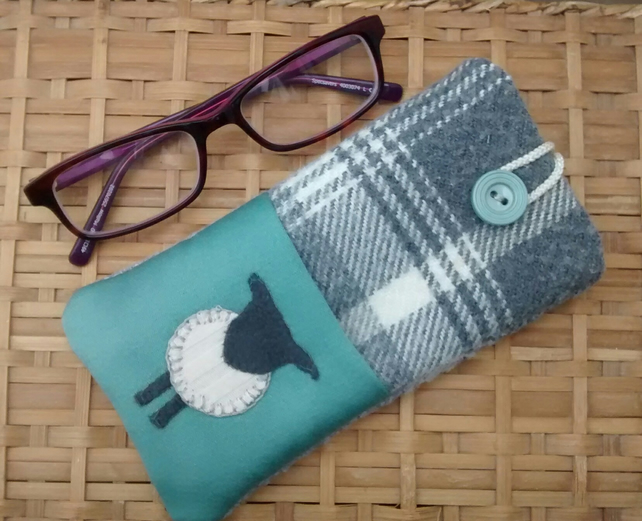 Spectacles Case - Glasses Case - Sheep Design - Eco Gift
