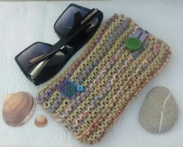 Sunglasses Case - Knitted Large Glasses Case - Ladies Eco Gift