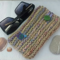 Sunglasses Case - Knitted Large Glasses Case