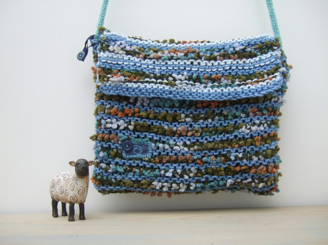 Ladies Blue Crossbody Bag