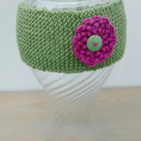 Fern Green Knitted Headband