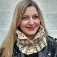 Button Cowl Scarf