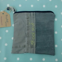 Pencil Case in Upcycled Fabrics