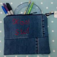 Large Denim Pencil Case