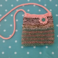 Girl's Mohair Knit Bag with Flower
