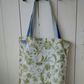 Tote Bag in Floral Fabric - Shopping Bag - Craft Bag