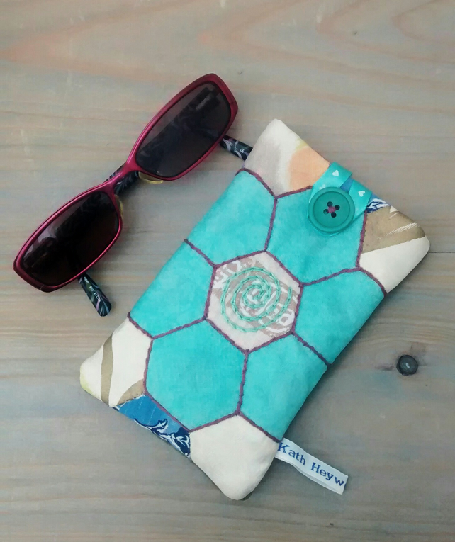 Spectacles Case - Glasses Case - Patchwork Design - Eco Gift