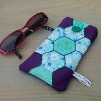 Spectacles Case, Glasses Case, Hand Stitched Patchwork Design