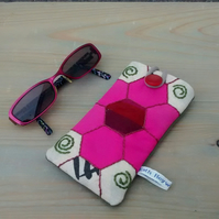 Glasses Case - Spectacles Case - Hand Sewn Patchwork Design - Eco Gift