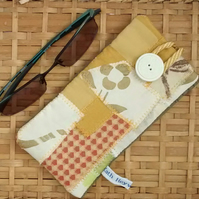 Glasses Case, Fabric Spectacles Case, Patchwork Design, Eco Gift
