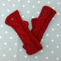 Fingerless Gloves - Knitted Wrist Warmers