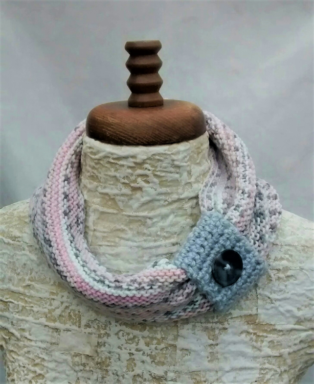 Pastel Cowl Scarf - Gift for Women