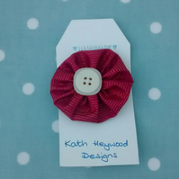 Button Brooch - Russet Textile