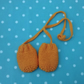 Yellow Baby Mittens with String