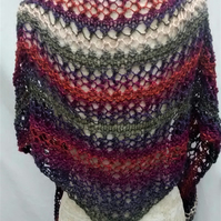 Lacy Triangular Scarf, Shawl